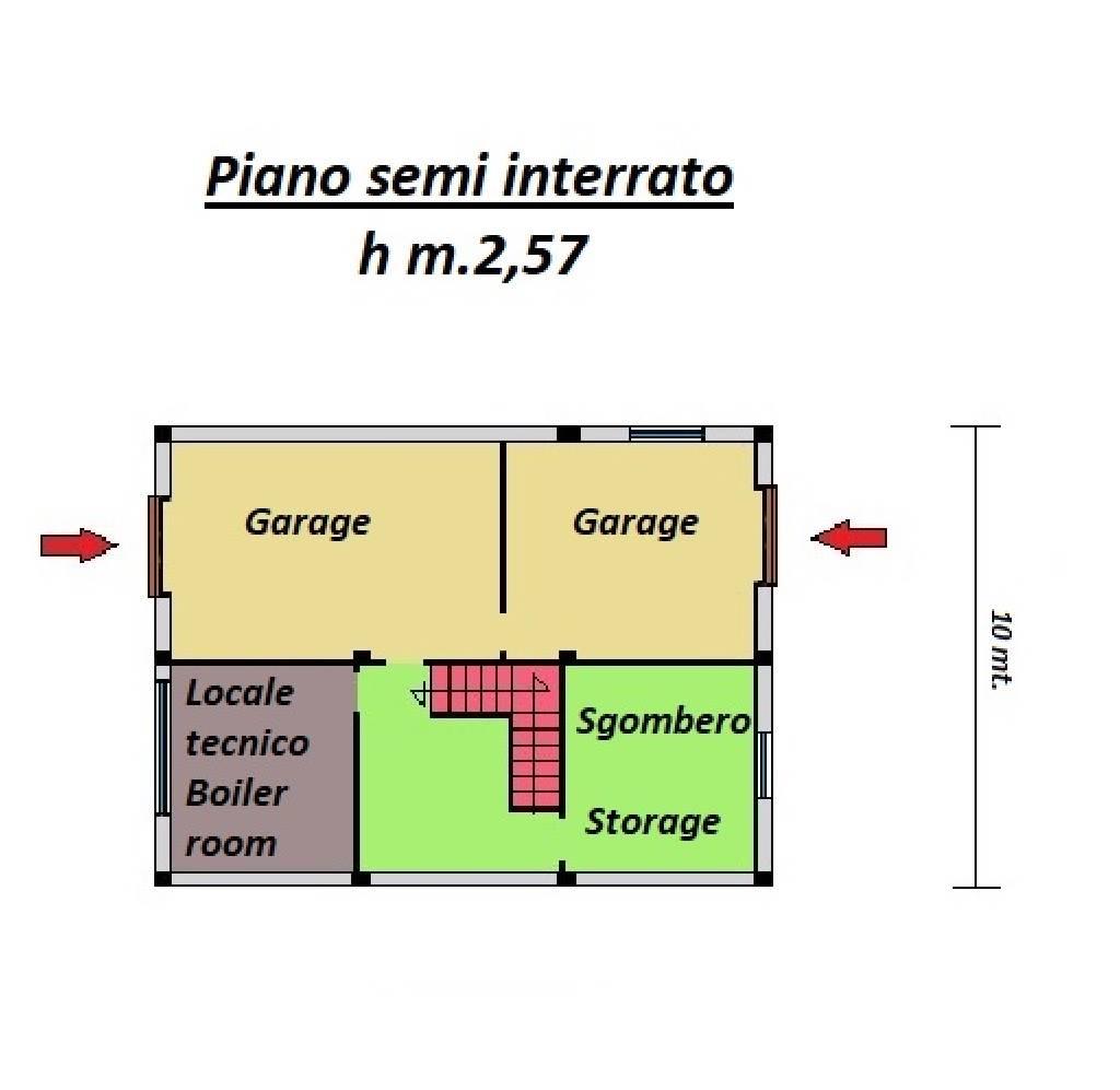 piano seminterrato basement