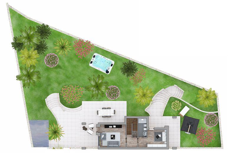 zona giorno e giardino