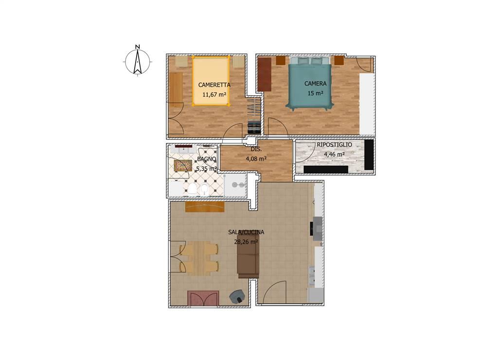 Appartamento indipendente in Via Pantane 2, Fauglia