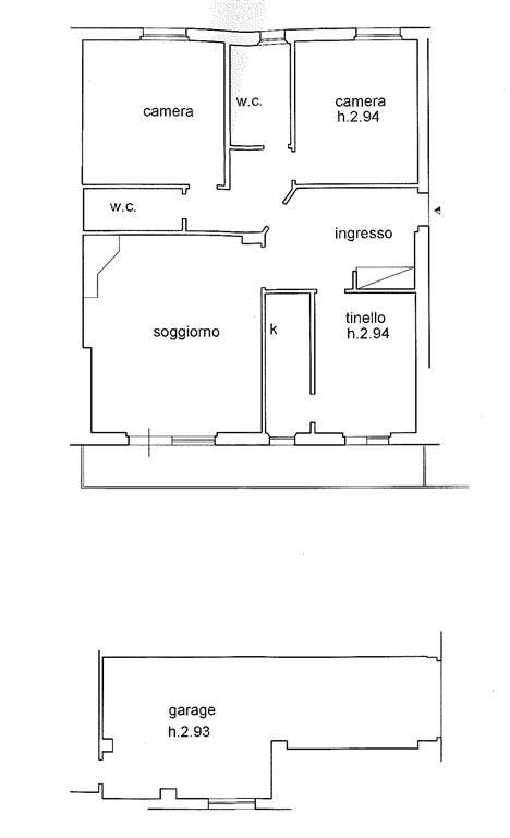 piantina stato attuale - Rif. PV217