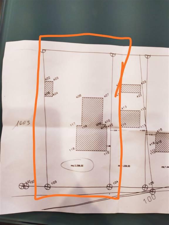 Proponiamo in vendita un lotto di terreno edificabile di 2300 metri quadri, con annesso nel prezzo una stalla danneggiata da un incendio, la cui