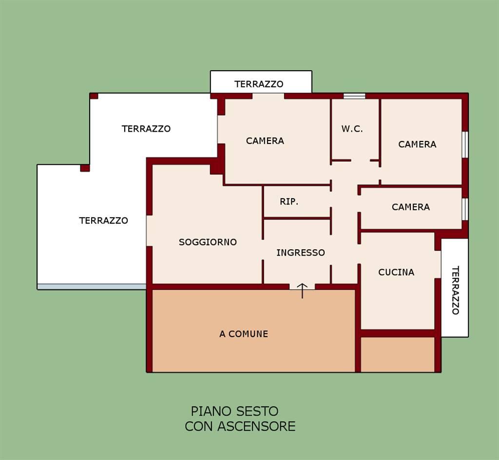 Attico / Mansarda in vendita a Certaldo, 5 locali, zona Località: SEMI-CENTRO, prezzo € 78.000   PortaleAgenzieImmobiliari.it