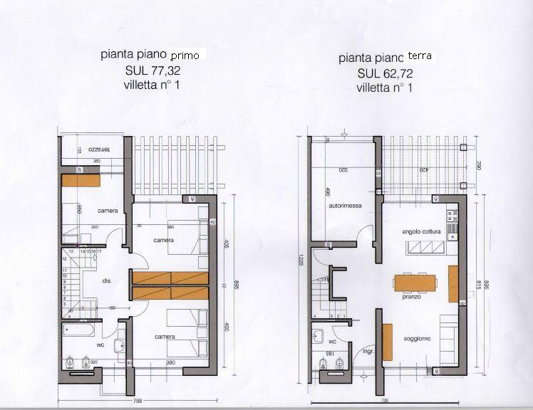 Villa a schiera in vendita a agliana zona san piero pistoia rif 1463 villa - Casa a schiera progetto ...