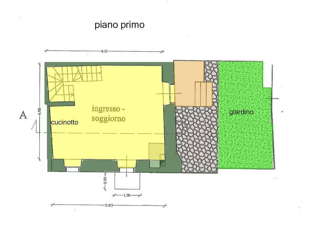 planimetria piano con giardino