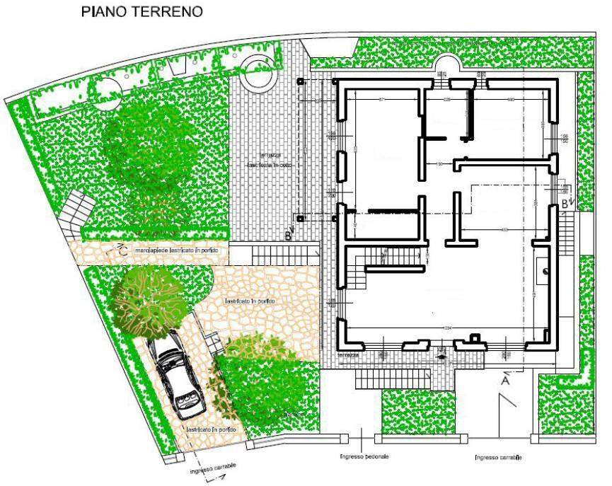 PLN PIANO TERRA RIALZATO E GIARDINO PIANO TERRA