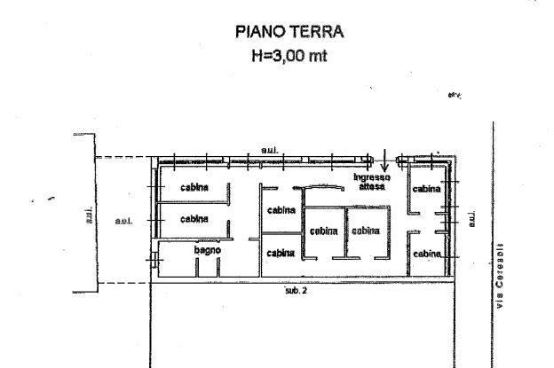PLANIMETRIA PIANO TERRA - NEGOZIO
