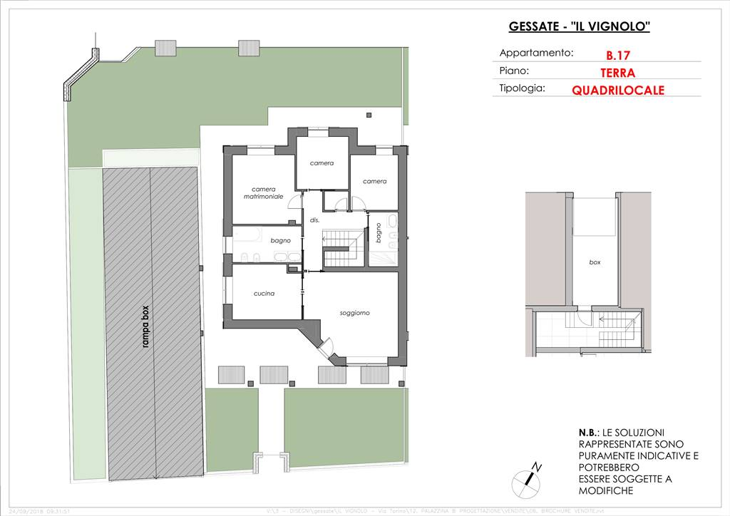 Planimetria 4loc con taverna ridotta e giardino