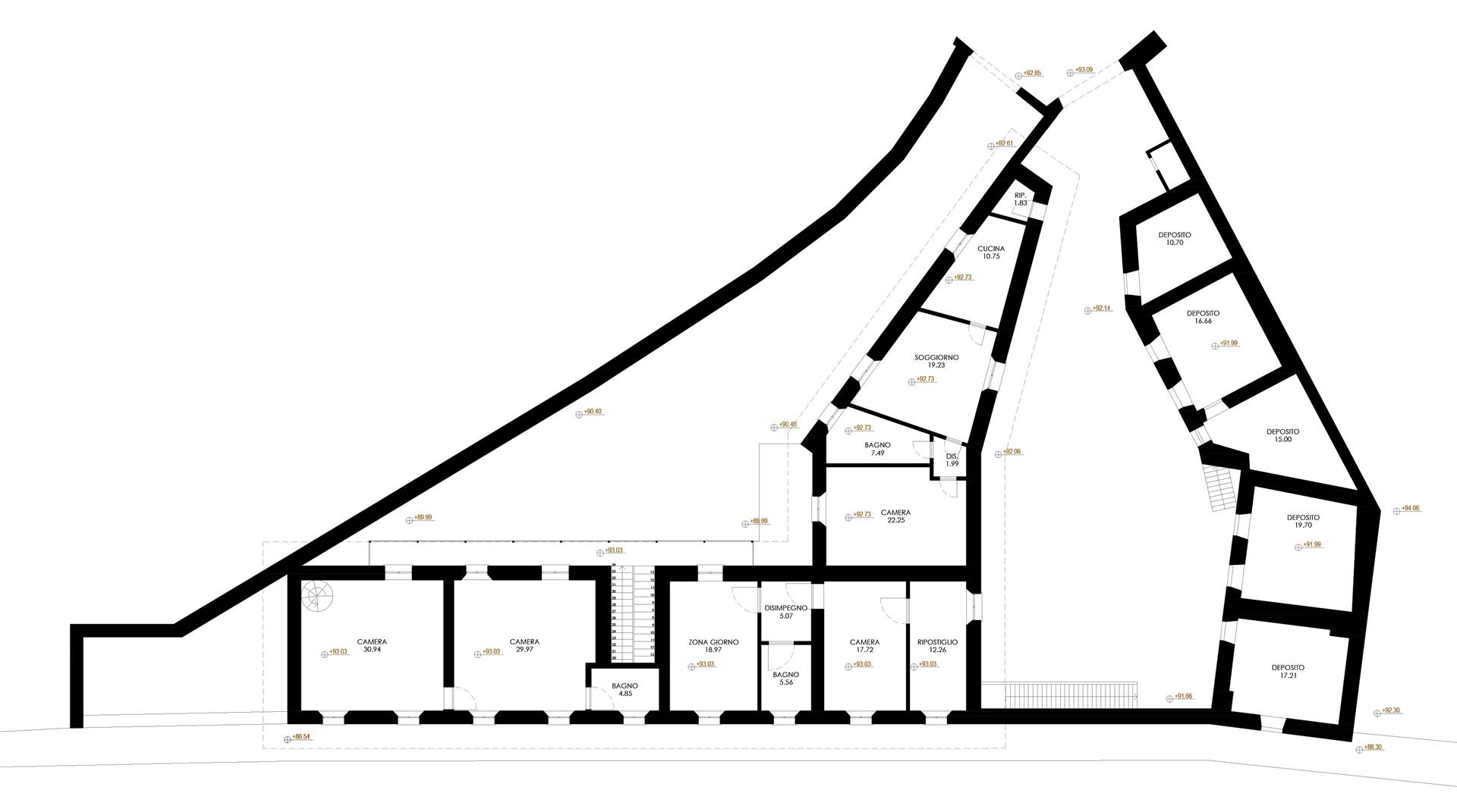 Planimetria dell'esistente piano primo