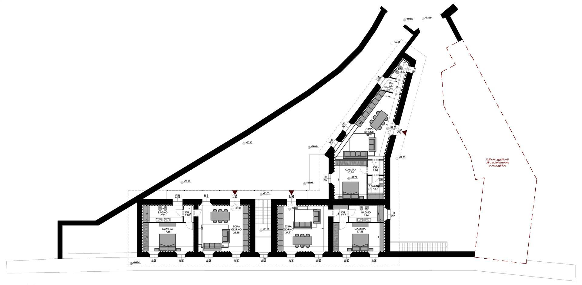 Planimetria di progetto piano primo