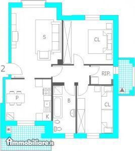 Appartamento in vendita a Carpaneto Piacentino, 4 locali, prezzo € 150.000 | PortaleAgenzieImmobiliari.it
