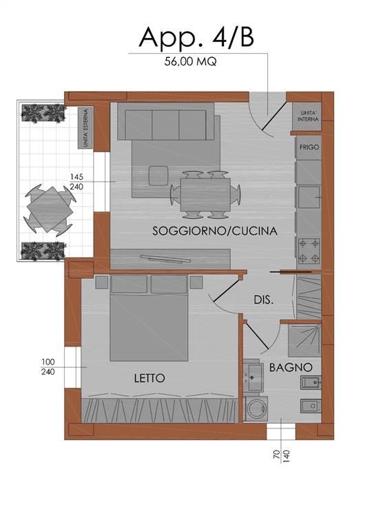 Bilocale, Zona Stadio, Piacenza, in nuova costruzione