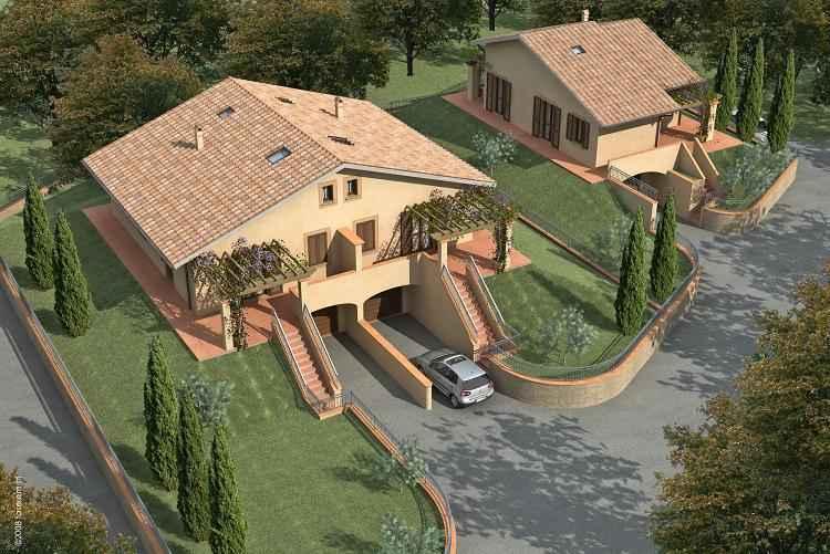 Vendita villa palaia in nuova costruzione piano terra for Foto villette singole