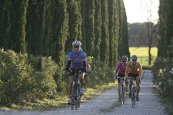 in bici nella campagna bolgherese