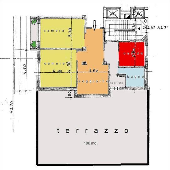 In stabile signorile, nel centro di Milano: zona C.so Italia, Via Santa Eufemia, affittasi trilocale arredato così composto: ingresso, soggiorno con