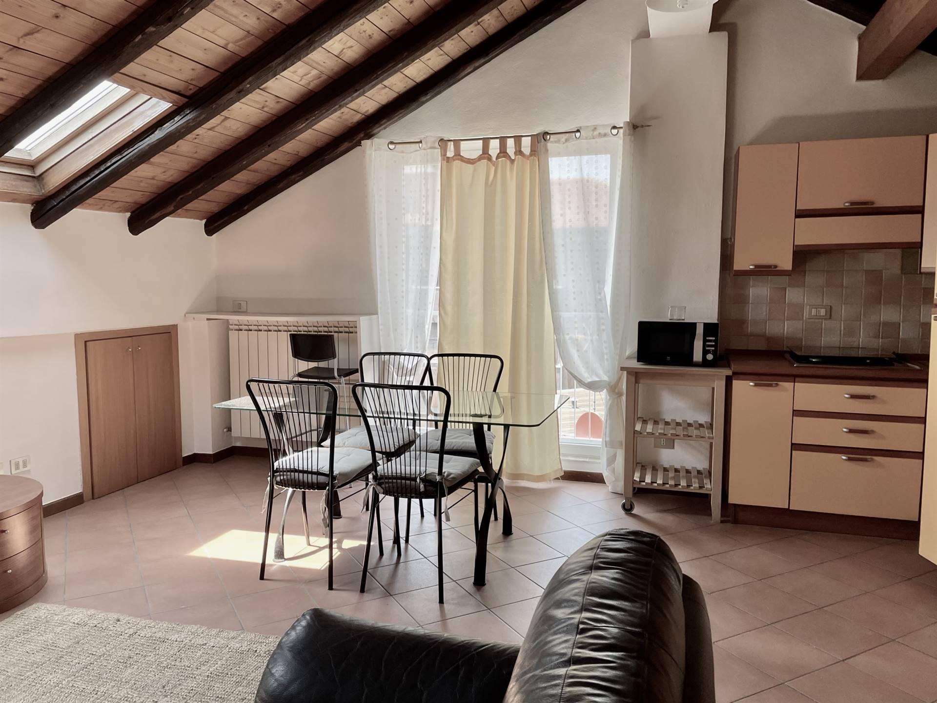 Vendesi ampia e luminosa mansarda, ristrutturata a San Giuliano Milanese zona Borgolombardo. La mansarda di circa 60 mq è così composta: ingresso