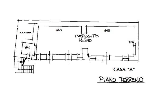 Casa A - Piano terra - attuale sede associazione