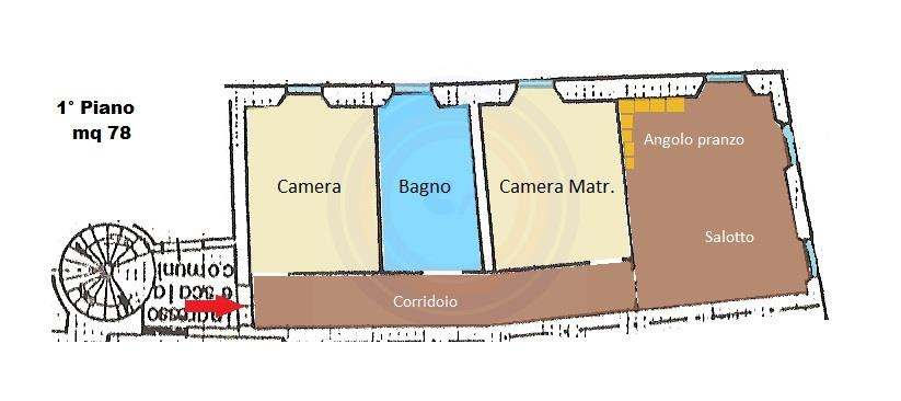 Trilocale in Via Giovanni Bovio 7, Pesaro