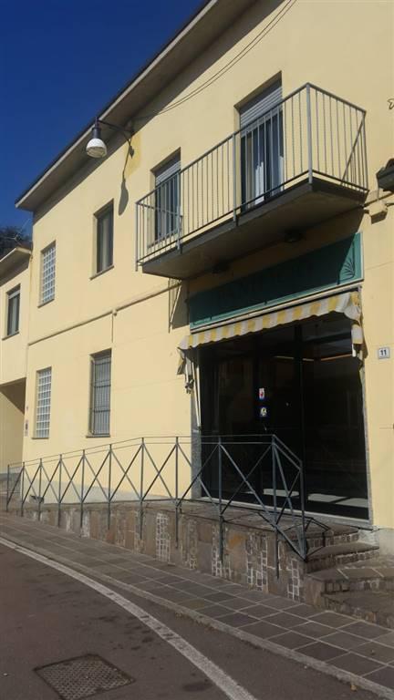 Pessano con Bornago - AFFITTASI negozio con due vetrine, locale anteriore e retro. Piano terra. Mq 50 fronte strada + mq 50 retro. Servizio da rifare.