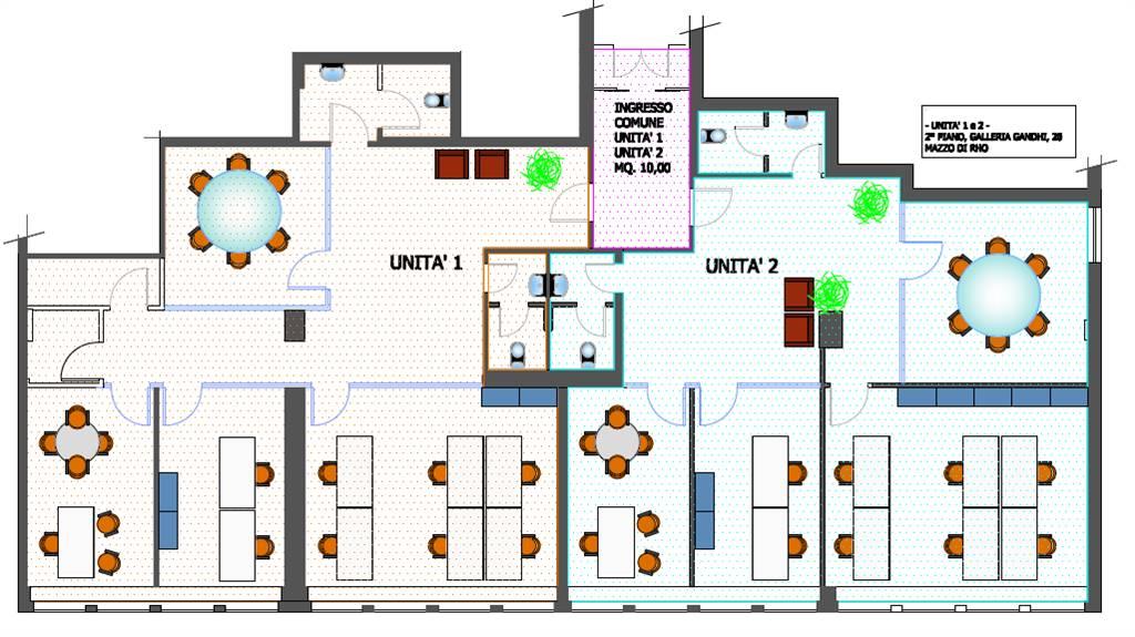 layout 2 unità