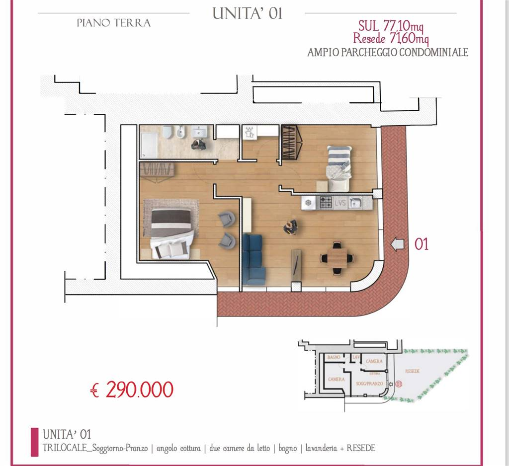 CAREGGI, FIRENZE, Apartment for sale of 77 Sq. mt., Restored, Heating Individual heating system, Energetic class: D, Epi: 98,5 kwh/m2 year, placed at