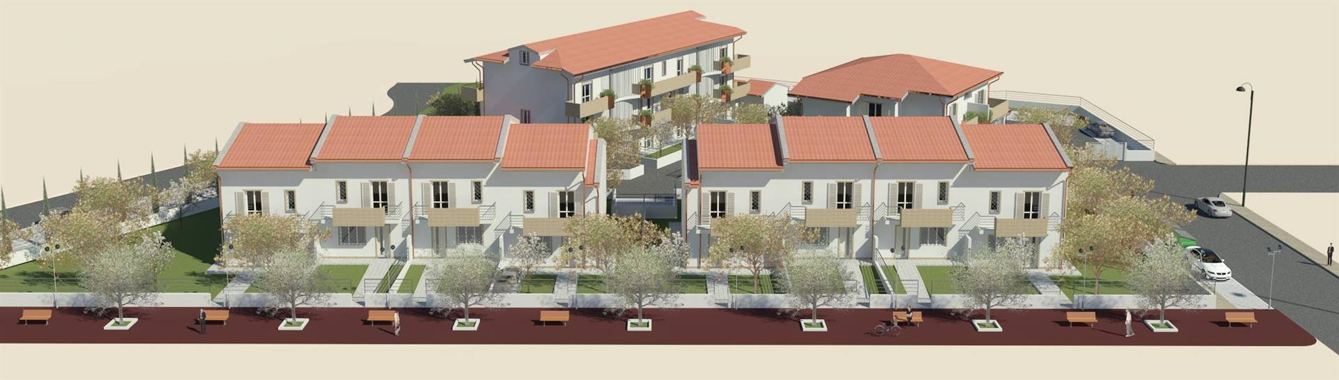 CAPALLE, CAMPI BISENZIO, terraced house for sale of 187 Sq. mt., New construction, Heating Individual heating system, Energetic class: A+, placed at