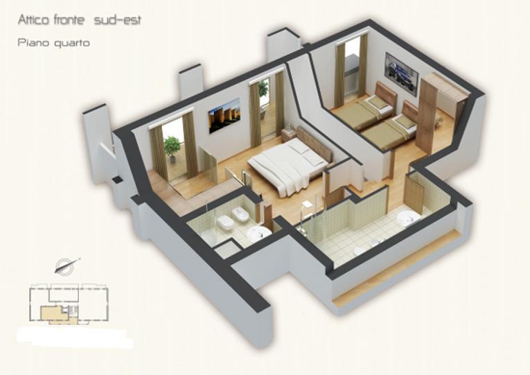 Vendita attico porta a prato san iacopino statuto for Piano di progetto di costruzione casa