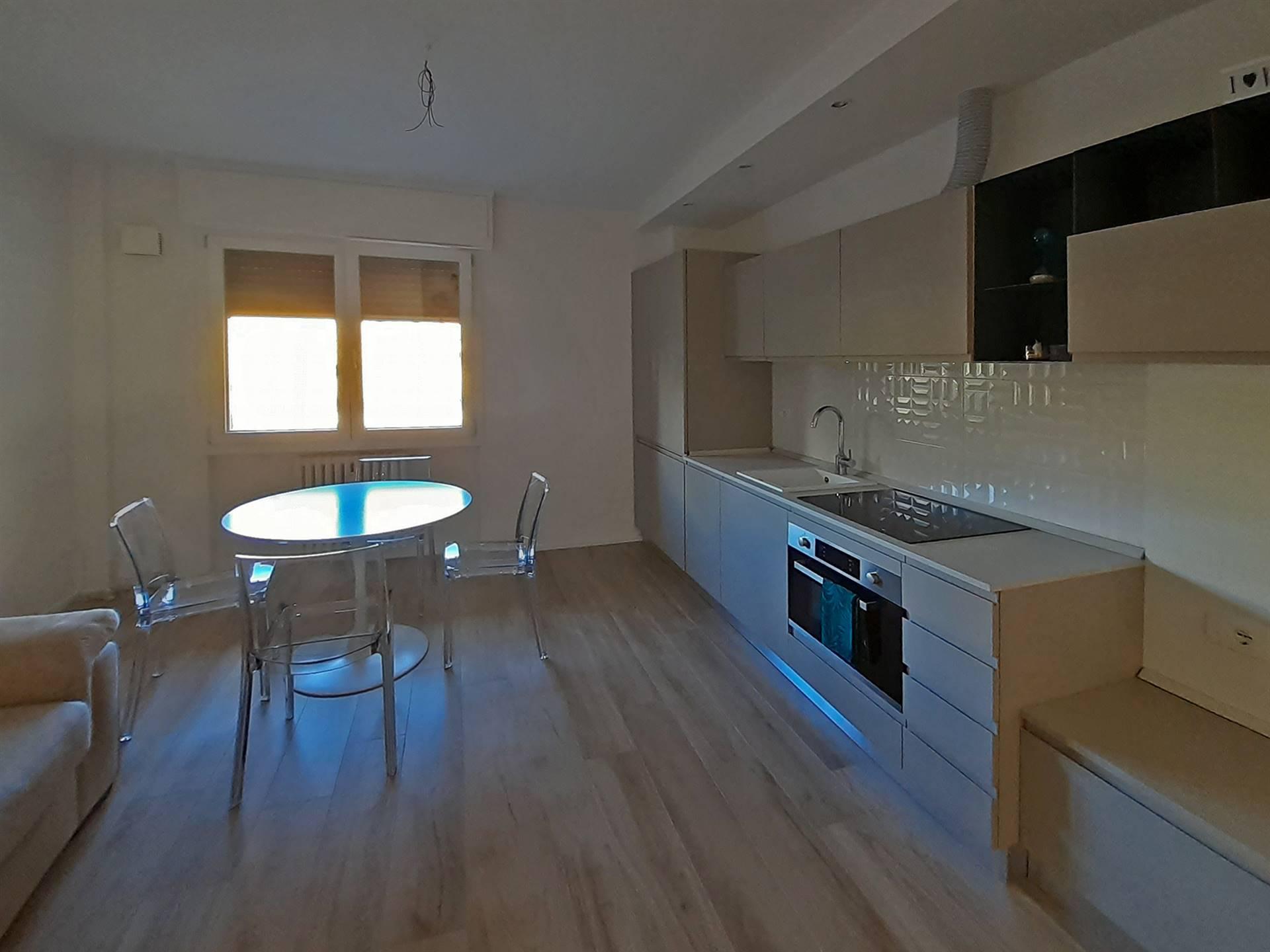 zona living con cucina attrezzata