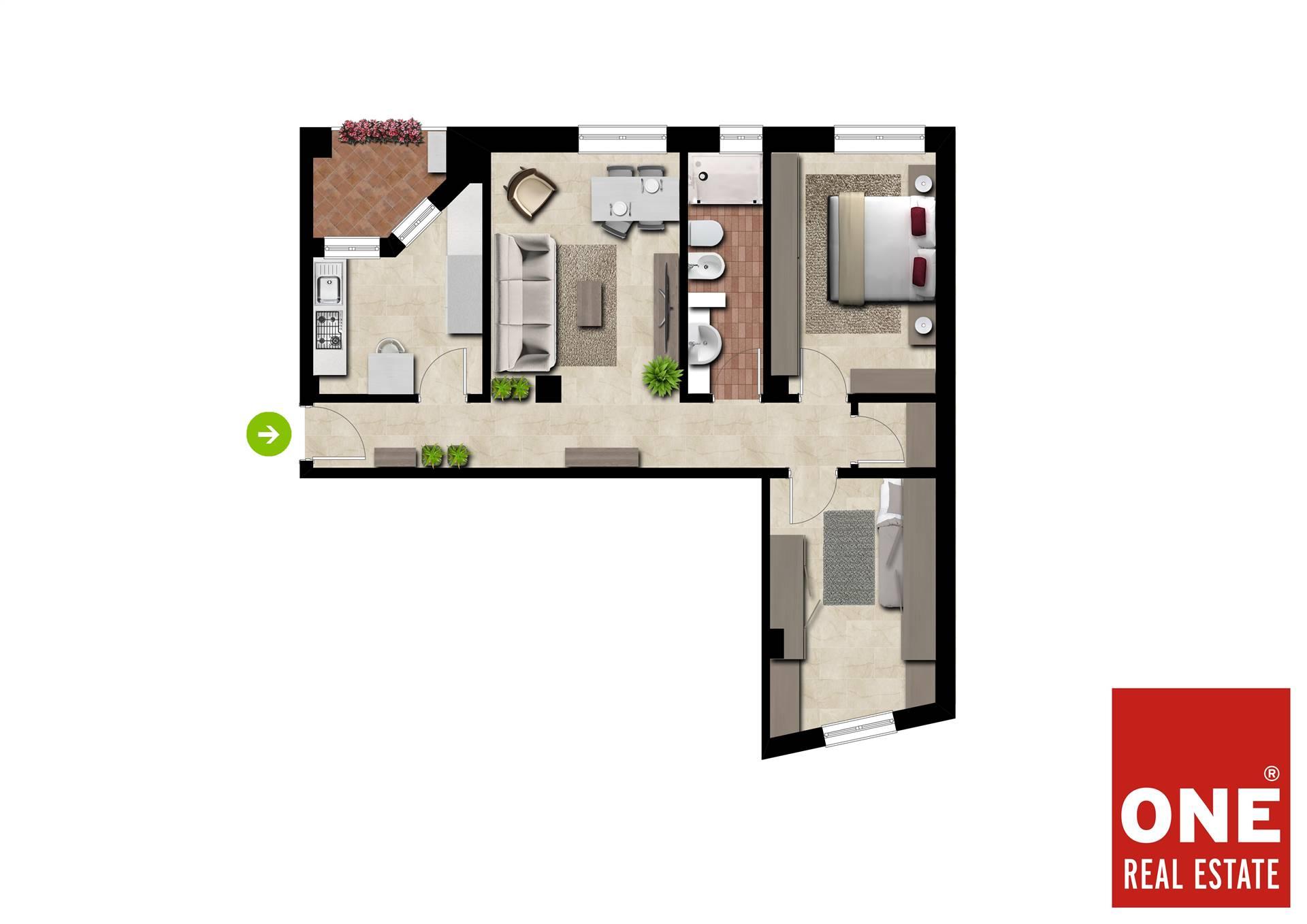 Appartamento in vendita a Villasanta, 3 locali, prezzo € 160.000   CambioCasa.it