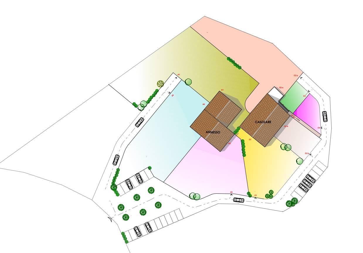 planimetria generale con parcheggi