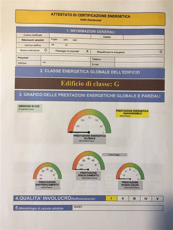 Certificato energetico