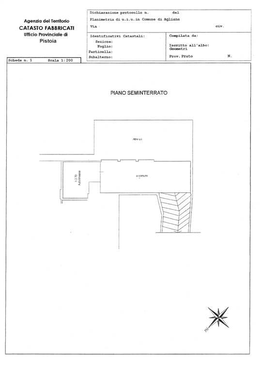 Planimetria catastale garage