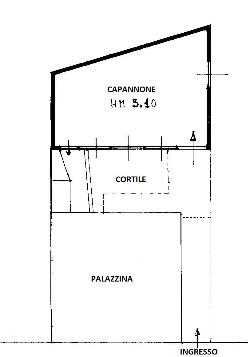 Planimetria capannone