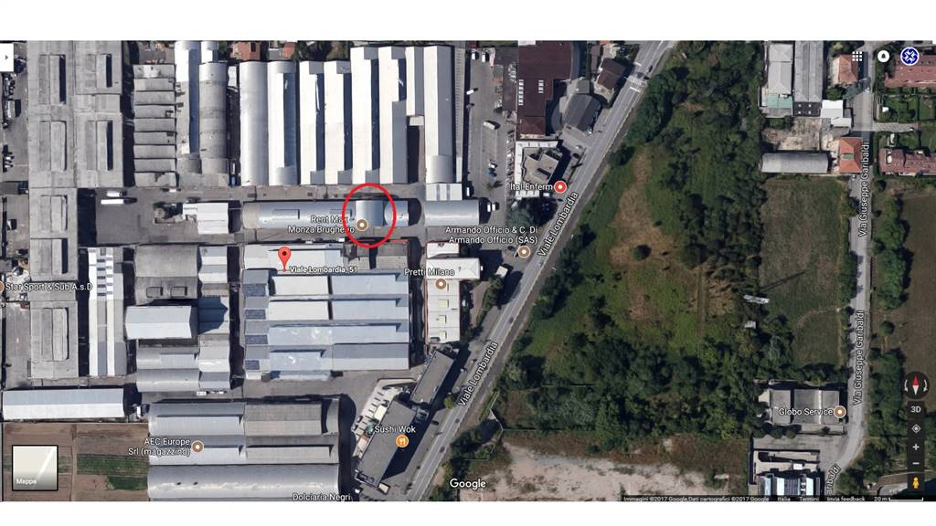 Industrial warehouse in BRUGHERIO 250 Sq. mt.