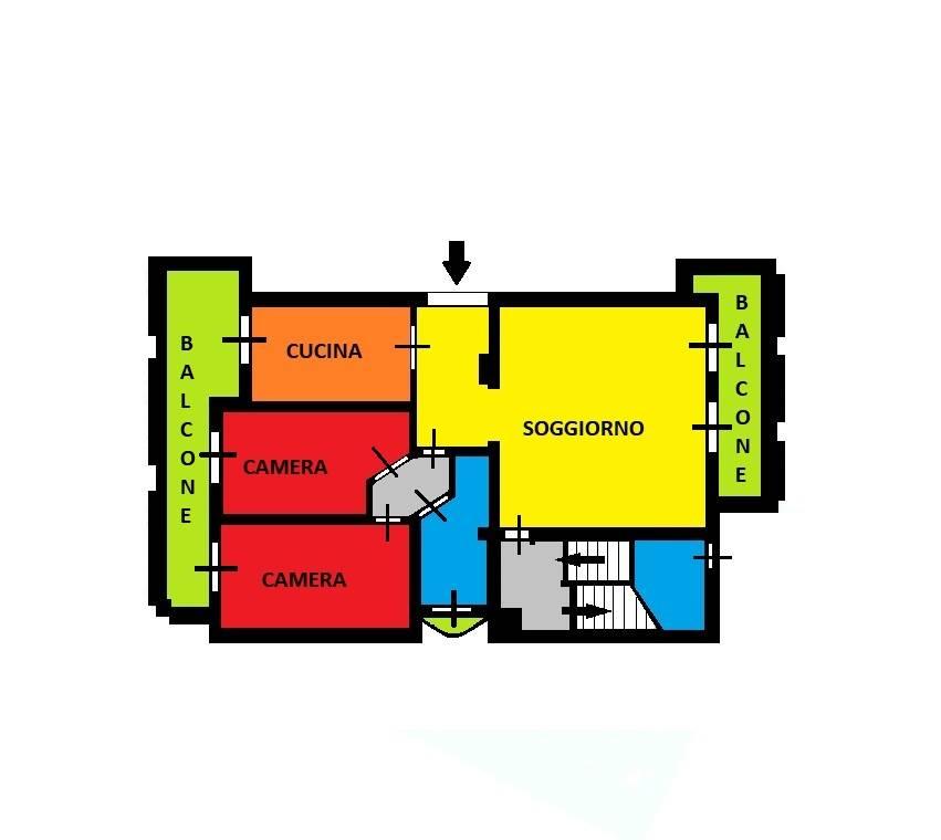 Appartamento in vendita a Trezzano Rosa, 3 locali, prezzo € 271.000   CambioCasa.it
