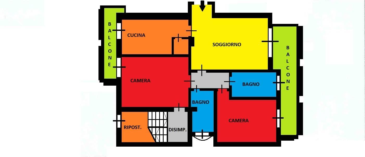Appartamento in vendita a Trezzano Rosa, 3 locali, prezzo € 316.000   CambioCasa.it