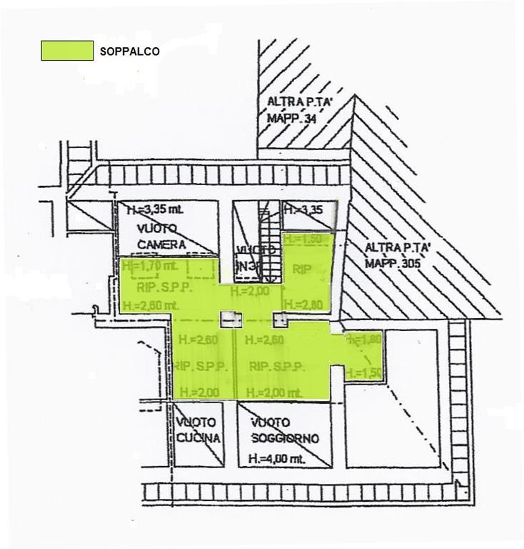 Planimetria soppalco - Rif. Fontana 125mq
