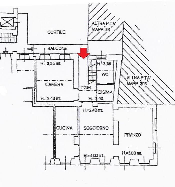 Planimetria appartamento - Rif. Fontana 125mq