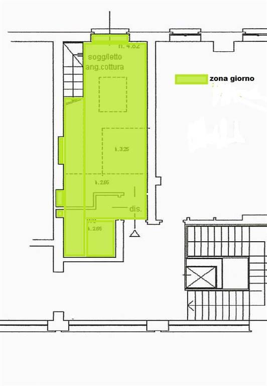 Zona giorno - Rif. Breda 120 ( Sub. 731)