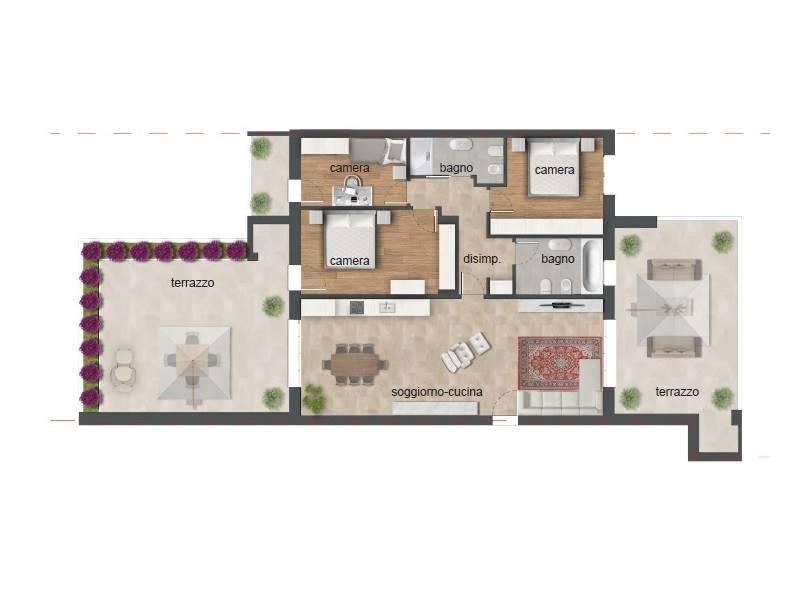 Appartamento in vendita a Albignasego, 5 locali, zona lità: Baraccon (Sant'Agostino), prezzo € 240.000 | PortaleAgenzieImmobiliari.it