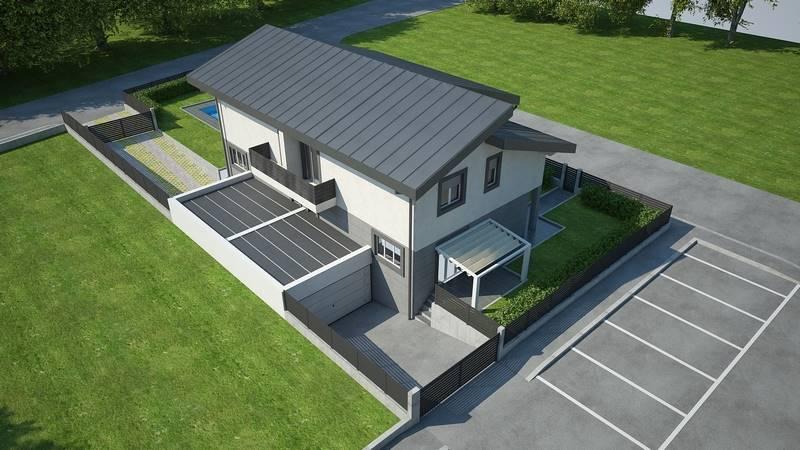 Villa, Albiate, in nuova costruzione