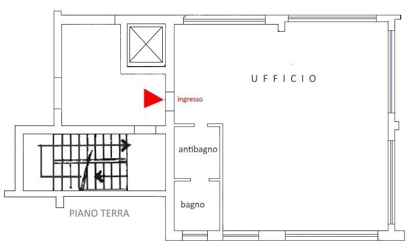 Rif. 2403-ADZ - In Monza, Sant'Albino, in palazzina di soli tre piani, con giardino condominiale UFFICIO di mq 65, con tripla esposizione composto da ingresso, ampio locale unico open-space,
