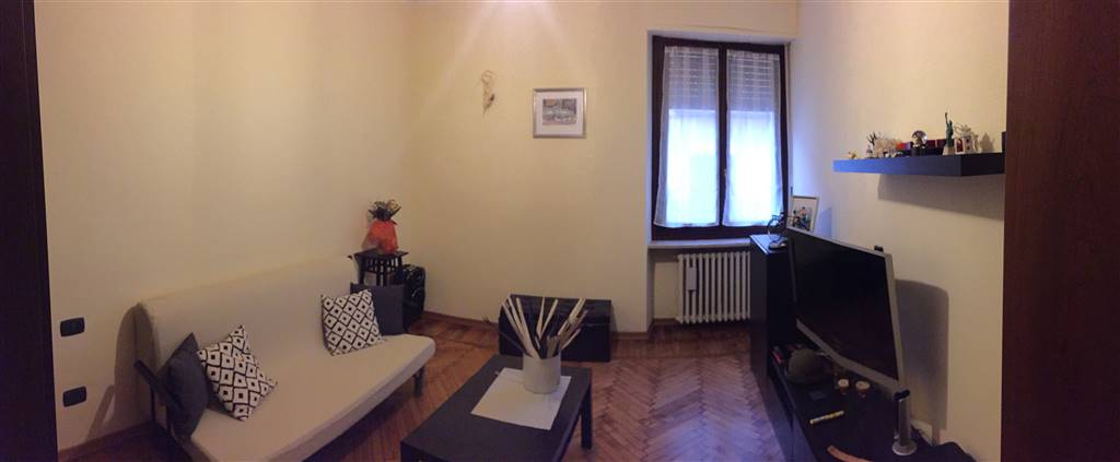 Appartamento primo piano composto da cucina abitabile, soggiorno, camera, bagno e ampio terrazzo.