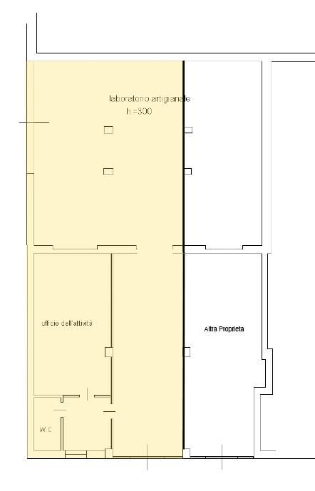 Rif. 3081A SOTTOMARINA - Affittasi Magazzino Commerciale a Sottomarina, locale a magazzino di circa 100 mq, e 30 mq di uffici con servizi, locale con