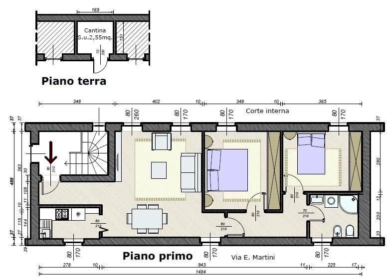 Trilocale in Via E. Martini 14/h, Crema