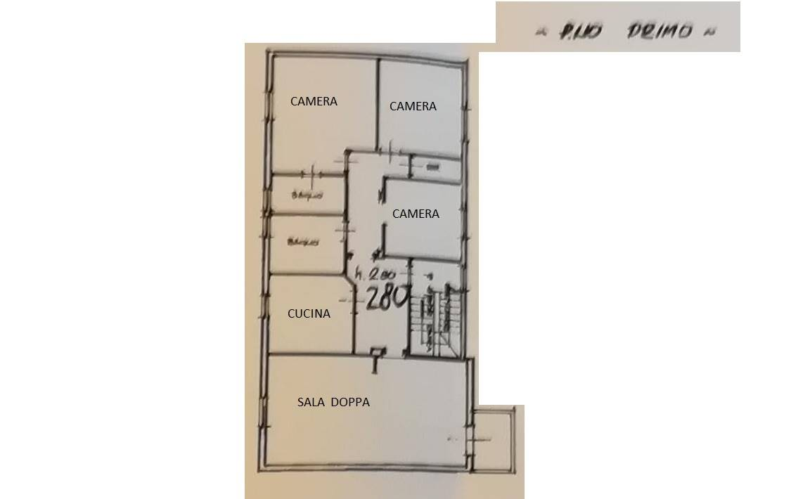 Pianta piano 1° - Rif. 2/0034