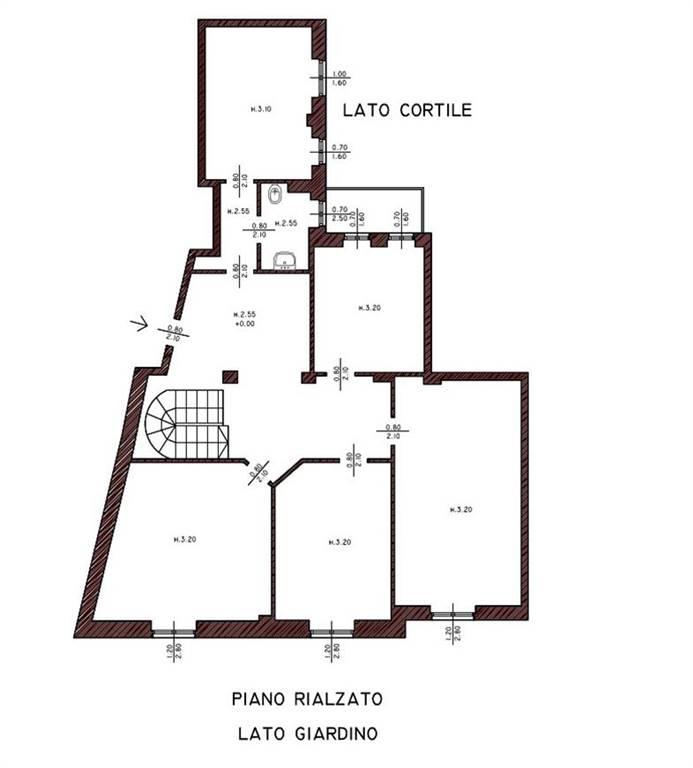 PLANIMETRIA PIANO RIALZATO - Rif. LR-Cattolica 06