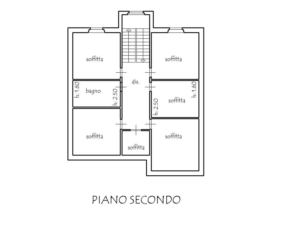 Planimetria piano soffitte