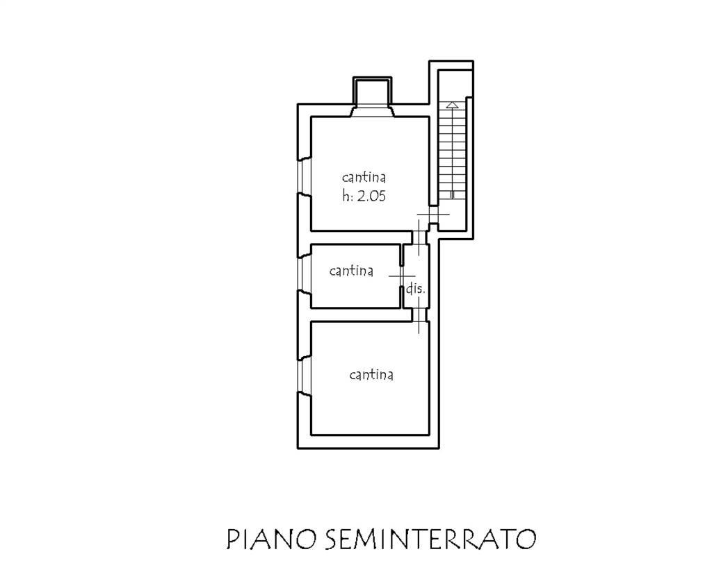 Planimetria piano scantinato