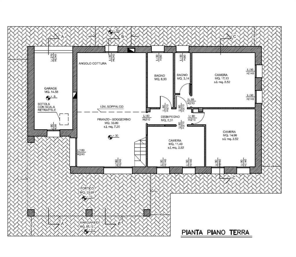 Progetto Bagno 3 Mq terreno edificabile con progetto approvato per villetta con giardino