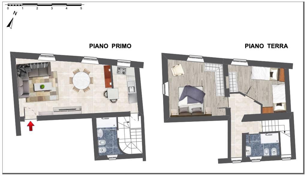 S. ANDREA, PISA, Квартира на продажу из 100 Км, Отопление Централизиванное, Класс энергосбережения: G, Epi: 3,6 kwh/m2 год, на земле Поднятый на 1,